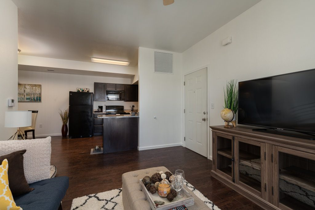 Gateway Apartments Spa Master Bedroom Living kitchen dining